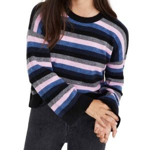 Madewell striped Cardiff crew neck sweater NWOT